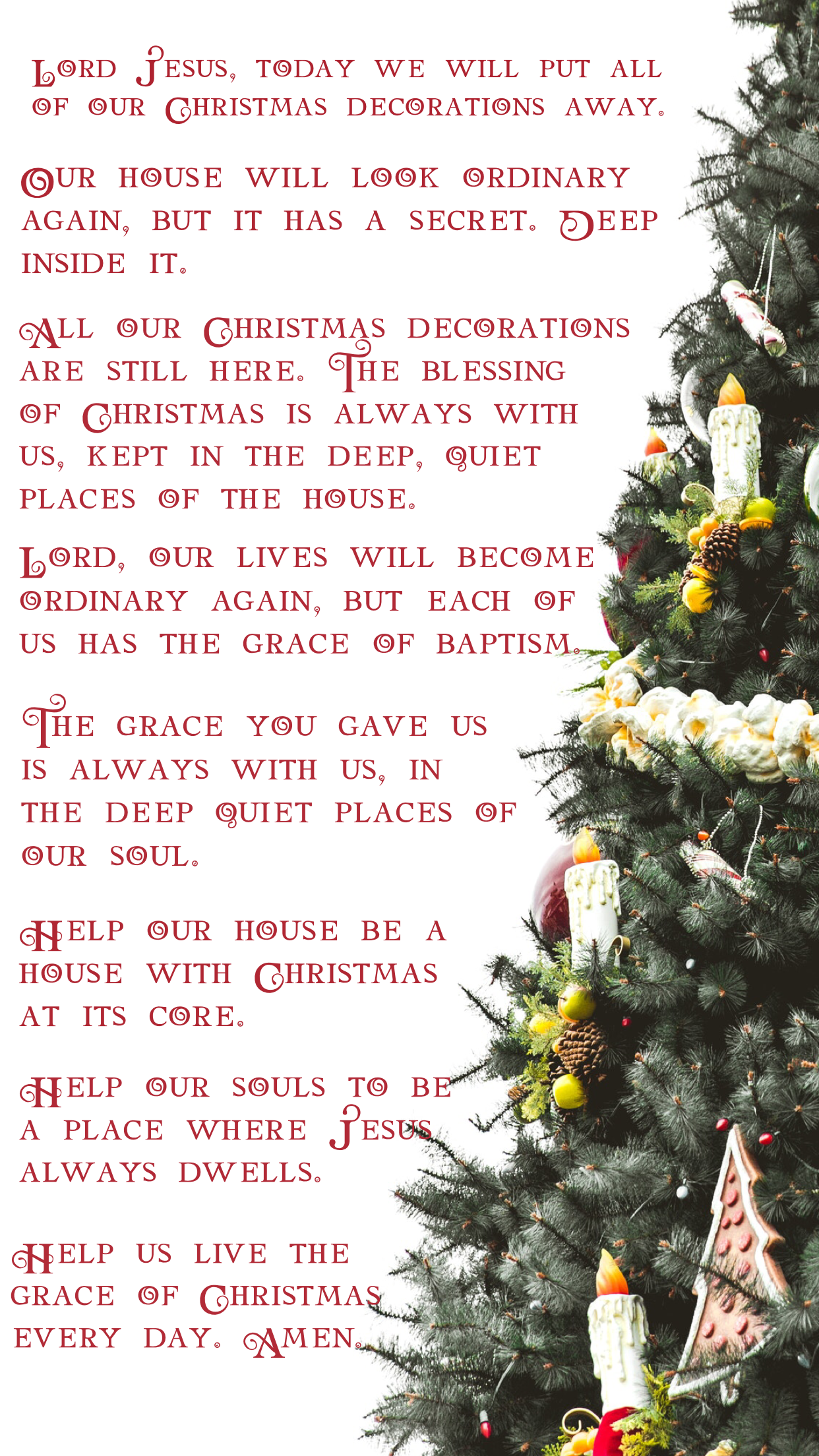 Christmas Blessing Prayer.Prayer For Taking Down Christmas Decorations Candlemas