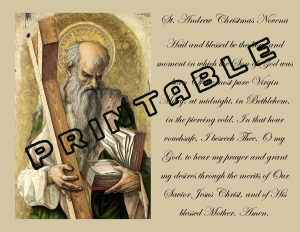 picture about St Andrew Novena Printable referred to as St. Andrew Xmas Novena: Printable Refreshing Out Your Eyes